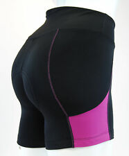 "WOMEN'S PEARL IZUMI ""SUGAR"" CYCLING SHORTS IN BLACK/PURPLE, SIZE EXTRA SMALL"