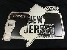 Samuel Sam Adams Lager Beer Sign New Jersey NJ New Mint! 24x20 Bar Pub