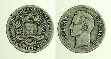 pcc1244_12) Venezuela 2 Bolivar 1924, Argento Silver