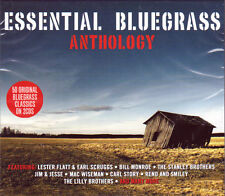 ESSENTIAL BLUEGRASS ANTHOLOGY - 50 ORIGINAL CLASSICS (NEW SEALED 2 CD)