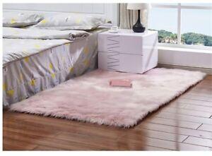 Faux Fur Sheepskin Rug Plain Soft Chair Seat Cover Fluffy Carpet Mats 150*300CM