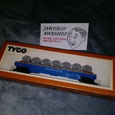 Vintage HO TYCO CABLE REEL CAR WESTERN UNION 335-B MODEL TRAIN CAR EXCELLENT