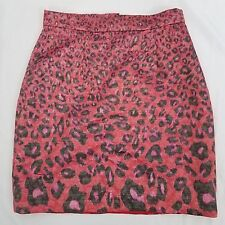 Giambattista Valli For Impulse  Women's Skirt Size 0 Mini Pink Red Animal Print