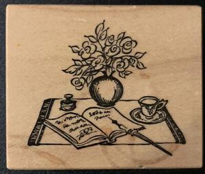 PSX E-2422 Desk Set Journal Tea Cup Fountain Pen Rubber Stamp