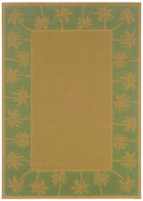 """2'x8' Sphinx Bordered Beige Outdoor Palm 606F6 Runner - Aprx 2' 3"""" x 7' 6"""""""