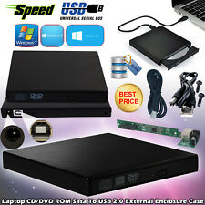 2.0 To SAT External USB CD/DVD Combo RW ROM Drive Enclosure Caddy Case Cover UK