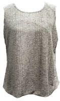 New Womens Kasper Onion Skin Double U-Neck Tank Top Size XL Grey Gray