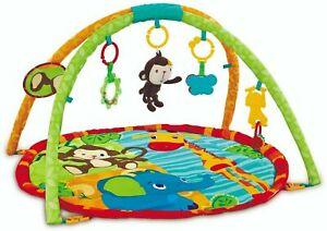 Safari Baby Playmat Fun Monkey Adventure Play Mat With Sensory Toys