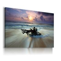 BEACH HOLIDAY  PARADISE  View Canvas Wall Art Picture Large SIZES  L224  X