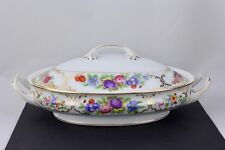 ROSENTHAL CHINA 'THE DRESDEN' - AIDA - OVAL COVERED VEGETABLE BOWL - MINT