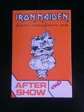 Iron Maiden BackStage Pass Aftershow LAST ONE IN STOCK!