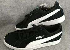 NEW Men's Puma Suede Smash Shoes Size 8.5 Black With SoftFoam Insoles