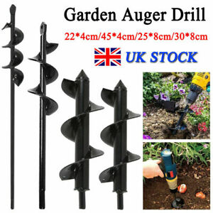 Earth Auger Drill Bit Fence Borer For Garden Planting Post Hole Digger Tools UK