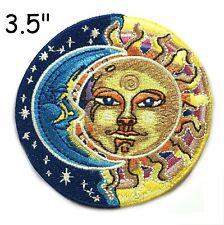 Sun Moon Face Patch Iron on Psychedelic Hippie Stars Celestial Applique Art Boho