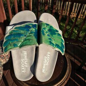US Size 9 Jeremy Scott Adidas GEL WINGS Adilette Pool Slides Sandals D65983