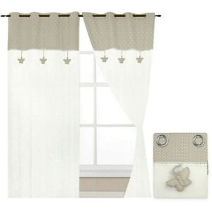 Curtains Window Port Internal Home Pair 2pz More Sizes Fabric Linen Shabby Chic