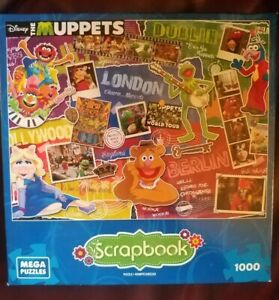 The Muppets Disney Scrapbook Mega Puzzle 1000 Pieces London Hollywood Berlin