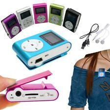 Bis 32GB Metall Mp3 Player USB Mini Clip Musik Metall Micro SD Zubehörpaket DE