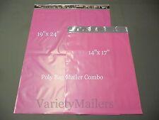 "18 PINK Poly Bag Shipping Envelope Combo 19""x 24""  14""x 17"" Self-Sealing Mailers"