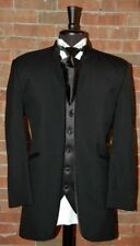 MENS 50 R  JEAN YVES MIRAGE BLACK MANDARIN COLLAR TUXEO JACKET  MODERN SLIM FIT