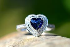 New 18ct WG 1.12 Blue sapphire and 0.60 Diamond Ring