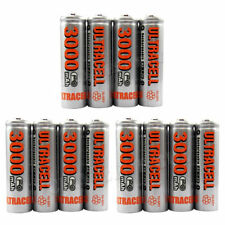 New 16 x 3000 mAH AA Rechargeable Batteries Ni-Mh 1.2 V ULTRACELL HIGH CAPACITY