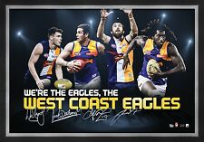 WEST COAST EAGLES FOOTBALLCLUB AFL 4 PLAYER PRINT POSTER FRAMED NAITANUI DARLING