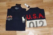 Ralph Lauren Men Navy  Shirt USA Flag Big Pony M MEdium  Custom-Fit RL Olympic