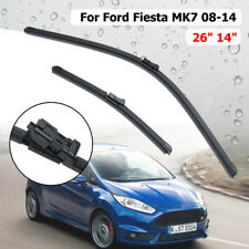 "Front Windscreen Wiper Blade 26"" 14"" For Ford Fiesta V MK7 2008-2014 Push Button"