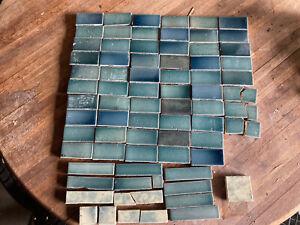 "Antique Cambridge Fireplace Tile 72 Pieces. Most Are 3""  x  1 1/2"""