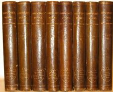 LEATHER Set;Charles Knight WILLIAM SHAKESPEARE's WORKS!plates FIRST EDITION gift