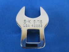 "SK Tools 9/16"" Open End Crowfoot Wrench 3/8"" drive ♠ Unused ♠ Made in USA"