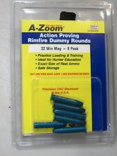 22 Win Magnum A-ZOOM  Pack of 6 Solid Anozidized Aluminum Dummy-Training Ammo
