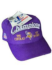 NWT Minnesota Vikings 1998 NFC Central Division CHAMPIONS Hat Snapback Rare