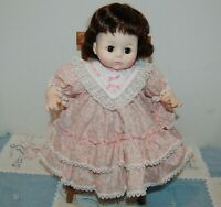 """Madame Alexander Vintage 1965 PUSSYCAT 15"""" new crier pretty pink dress with rose"""