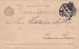 Hungary 1910 Budapest to Donau Prepaid Postcard used VGC