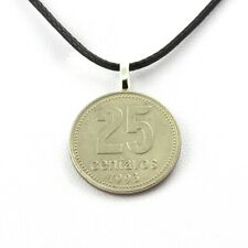 Collier pièce de monnaie Argentine 25 centavos