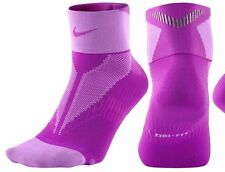 NIKE ELITE LIGHTWEIGHT QUARTER Men's Running Socks SX4953-584 Purple Men 12-13.5