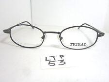 Vtg 90s Logo Paris Tribal 1443 06 Eyeglass Frame Black Made in France (Ltp-53)
