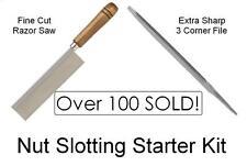 USA MADE GuitarTechs NUT SLOTTING STARTER KIT 2 Tools - Saw / File Guitar Tool
