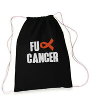 FU Cancer Drawstring Bag Reusable Pack Sports Backpack Leukemia Awareness Gift