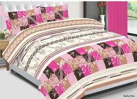 Quilted Duvet Cover Set,  Bedding Set, Duvet With Pillow Cases & Fitted Sheet