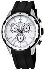 Festina Mens Chronograph Black Rubber Strap White F16838/1 Watch - 17% OFF!