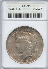 1934 D Better Date Peace Dollar