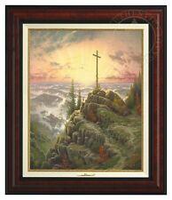 Thomas Kinkade Sunrise 20 x 16 Canvas Classic (Burl Frame)