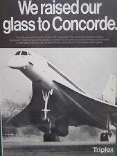 6/1969 PUB TRIPLEX SAFETY GLASS AVIATION SST CONCORDE GOLD FILM ORIGINAL AD