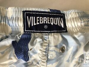 VILEBREQUIN Exklusive Badeshorts  schönes & teures Modell Bestickt Blau XL