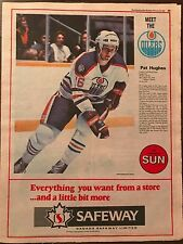 Pat Hughes 1982 Full Page Uncut Edmonton Sun 11.5 by 15 Safeway Sponsored