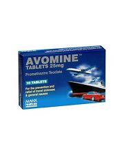 Avomine 25mg 10 Tablets For travel sickness