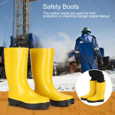Fire Fighting Boots Anti-Impact Puncture Resistant Acid Resistant Chemical Shoes